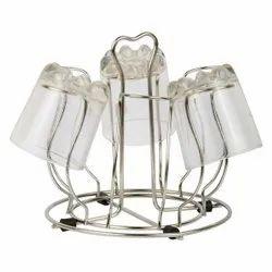 Flower Shape Glass Stand