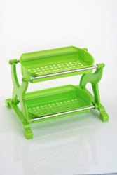 Plastic Green Primelife 2 Layer Kitchen Rack Stand, For Home