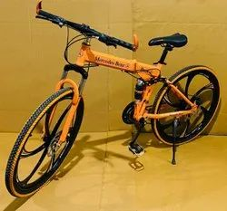 Mercedes Benz Orange Foldable Cycle