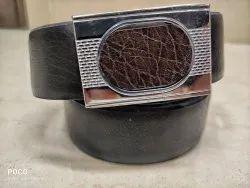 Black 35mm Brown Leather Belt