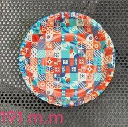 Multicolor Circular Sweet Heart Paper Plate- 25pcs/pack- 191mm, For Event And Party Supplies, Paper Gsm: 120