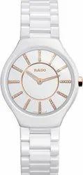 Rado Men White Ceramic True Thinline Jubile Watch, For Personal Use