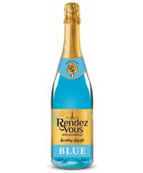 Rendez Vous Bottle Blue Sparkling Peach Flavored Drink, Packaging Size: 750 ml