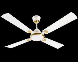 White Ceiling Fans, Fan Speed: 380 Rpm, Power: Electricity