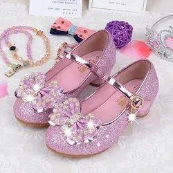 Flats Party Wear Ladies Fancy Shoes, Size: 5