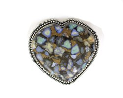 925 Sterling Silver Copper Turquoise Gemstone Ring A