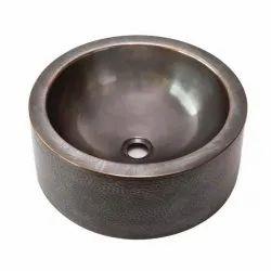 Vansh Handicrafts Counter Top Copper Wash Basin, For Bathroom
