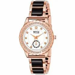 Youth Club Formal Wear Rosegold Analog Watch, Model Name/Number: Dmstn-blk