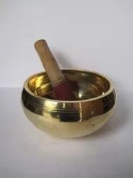 Polished Brass Singing Bowl For Enhance Yoga
