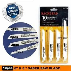 Eachlead High Carbon Steel Jigsaw And Reciprocating Saw Blades, For Industrial, Size/dimension: 6