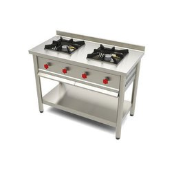 Duble Single Two Burner Cooking Range, For Restaurant, Size: 48