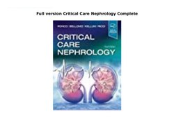 Basic Nephrology Care