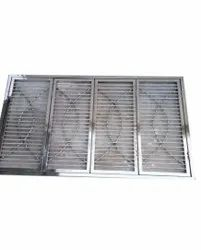 Powder Coated Stainless Steel Window, For Residential