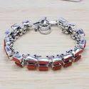 Citrine Gemstone 925 Sterling Silver Jewelry Bracelet SJWBR-219