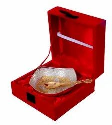 Anand Crafts Silver And Gold Plated German Silver Bowl Spoon
