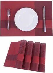 Vinyl Cross Weave Non-Slip Heat Insulation Stain Resistant Washable Place Mats Set of 12