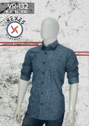 Cotton Printed VR - 132 Causal Wear Men Shirt