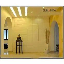 Living Room Interior Designers Service, Work Provided: Wood Work & Furniture