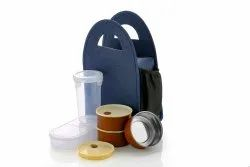 Khodal Enterprise Plastic, SS Stainless Steel Office Lunch Box, 3 SS containers