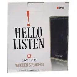 Live Tech SP08 Black Wooden USB Speaker