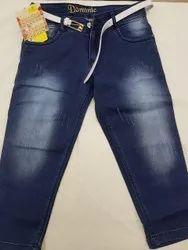 Ladies Regular Fit Stretchable Denim Jeans, Waist Size: 28-36