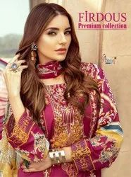 Shree Fab Firdous Premium Collection Jam Cotton With Embroidery Work Pakistani Suit Catalog