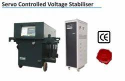 97 % Three Phase Servo Controlled Voltage Stabilizer, 340 - 480 V, 415 V