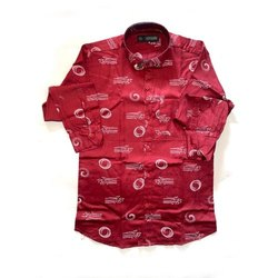 SDG Casual Wear Men Collar Neck Printed Cotton Shirt