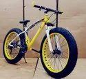 BMW Sleek Design Yellow Fat Tyre Cycle