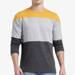 A.K.Garments Cotton Designer Full Sleeve T Shirts, Normal Wash