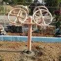 Outdoor Green Gym Equipment Fore Arm Wheel