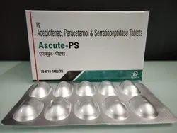 Aceclofenac 100 Paracetamol 325 Serratiopeptidase 10