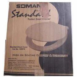 White Somany Ceramics Toilet Seat Cover