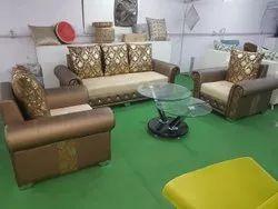 Brown Designer Sofa Set, For Home