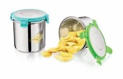 Clip Lock 304 Stainless Steel Food Container Lunch Box Tiffin