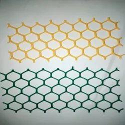 Yellow,Green Hexagonal Sericulture Plastic Mountage Net