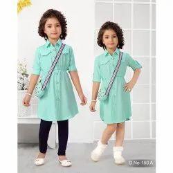 Plain Girls Party Wear Dress, Size: 22-36