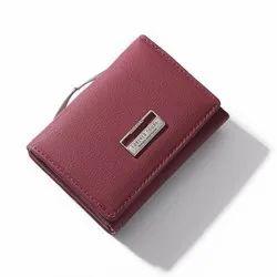 Plain Weichen Women Leather Wallet