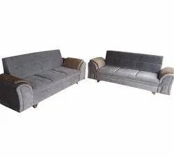 Ronak Sofaset Grey 6 Seater Wooden Sofa Set, Living Room, 5 Inch