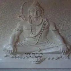 Marble Shiva Mural Statue