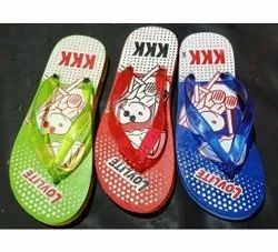 KKK Kids Printed Rubber Slippers
