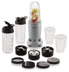 Cookwell Bullet Mixer Grinder 500 Watts 5 Jars 3 Blades Silver
