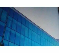 Blue Plain Reflective Window Glass, Size: 2 * 4feet, Thickness: 9mm