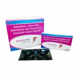 Antioxidants , Amino Acid, Multivitamins With Flaxseed Oil & Astaxanthin Soft Gel ( Dayone-plus)