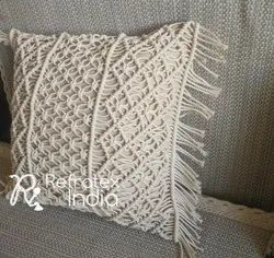 Natural Macrame Cushion Cover
