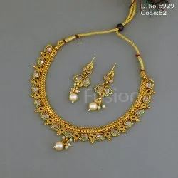 Indian Antique Polki Necklace Set