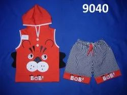 Kids Casual Wear Printed Cotton Baba Suit