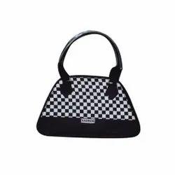 Black & White PVC Ladies Designer Handbag