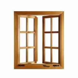 Brown Modern Designer Wooden Window, Rectangular, Size/Dimension: 150 X 140 Mm