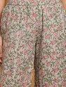 Janasya Women's Multicolor Cotton Kurta With Palazzo And Dupatta(J0127)